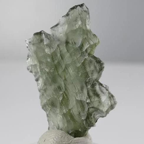 Super Rare Shape Moldavite Stone From Besednice 1.9 Grams