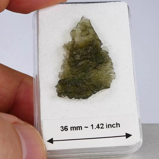 Moldavite Raw Stone Collector Specimen 2.1 Gram