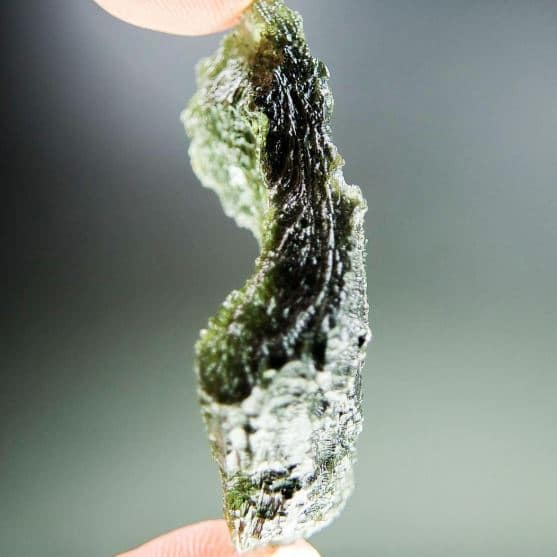 Big Angel Chime Moldavite - CERTIFIÉ 2