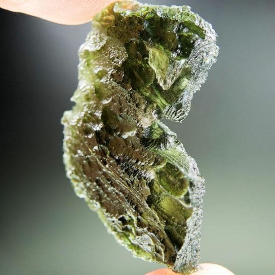 Big Angel Chime Moldavite - CERTIFIÉ