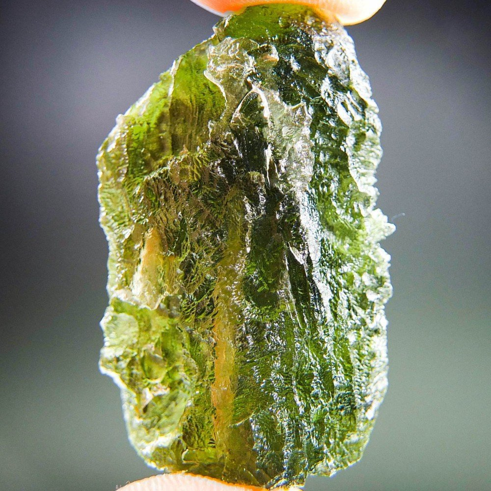 Big Moldavite with Channel - Certified