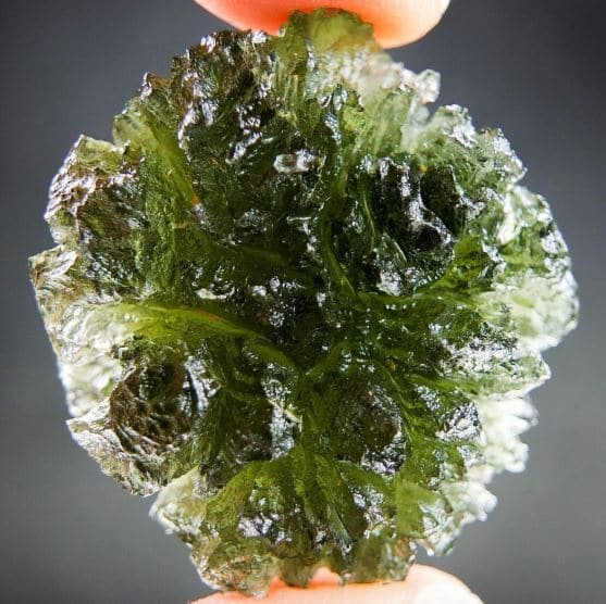 Boulder Shaped Moldavite Big - Certified
