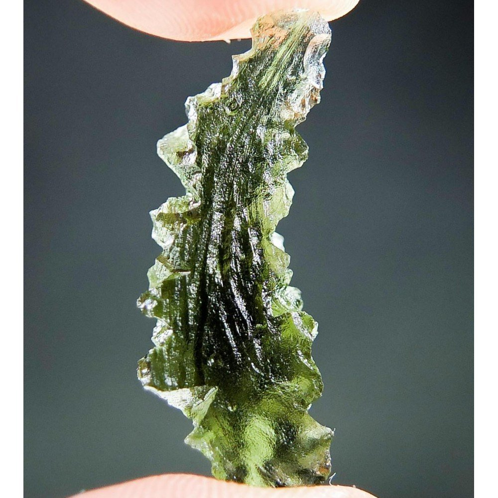 Hedgehog Moldavite from Besednice - Certified