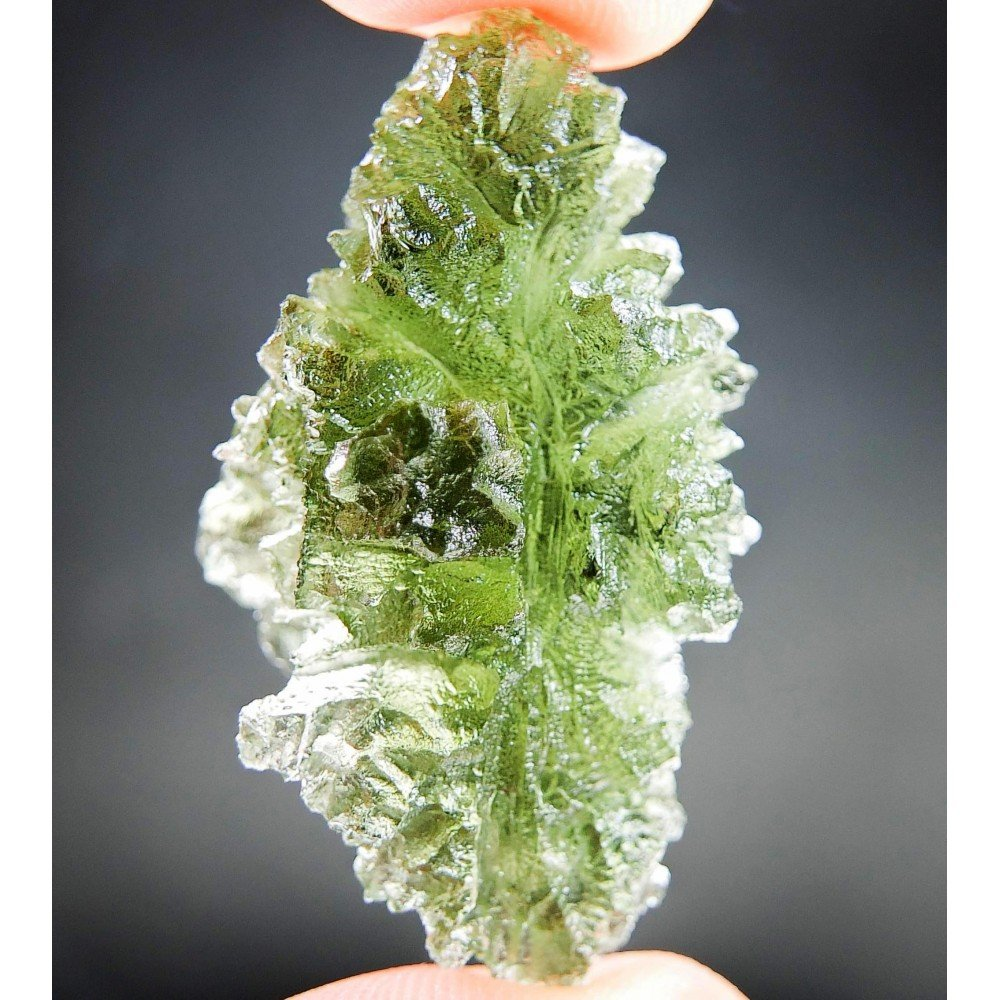 Investment Hedgehog Moldavite from Besednice - Certified