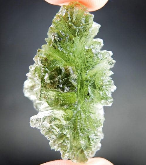 Investment Moldavite Hedgehog from Besednice - Certified