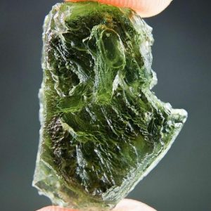 Rare Layered Moldavite - CERTIFIED