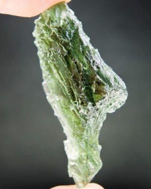 Vibrant Green Big Moldavite - Certified (12.5 grams)