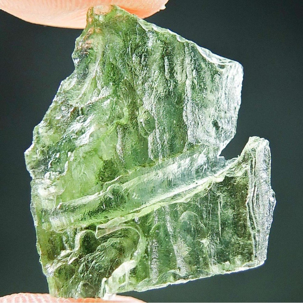 Apple Green Moldavite - Uncommon Shape