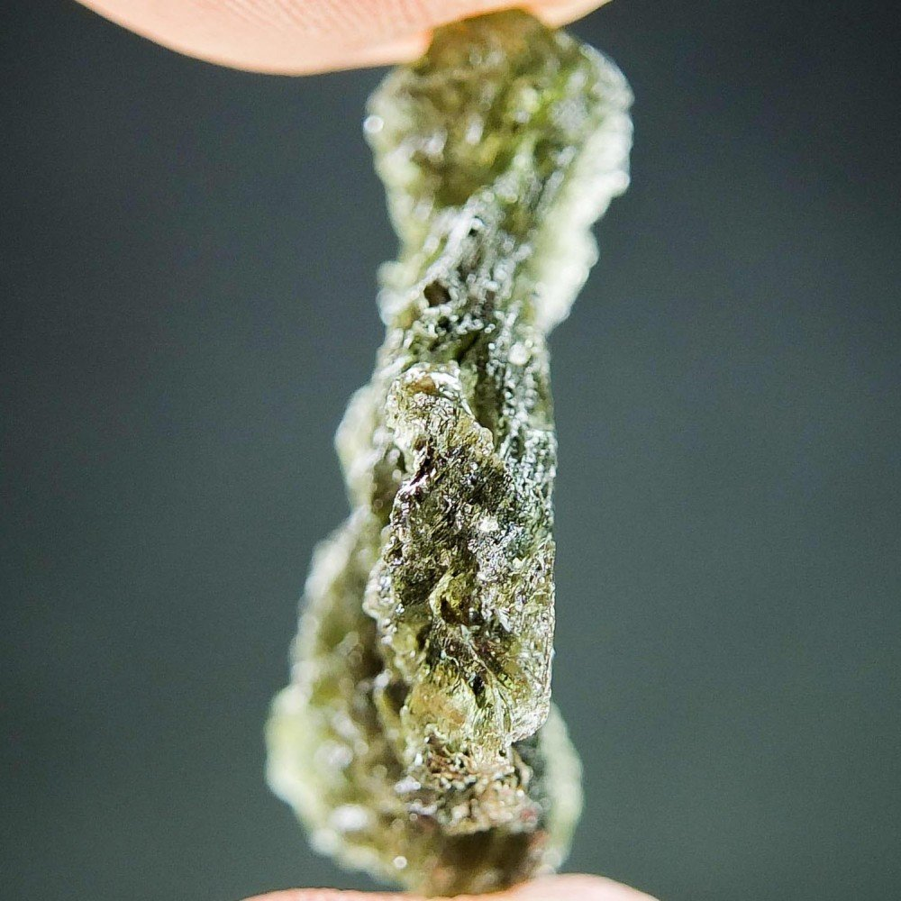 Moldavite with Natural Hole