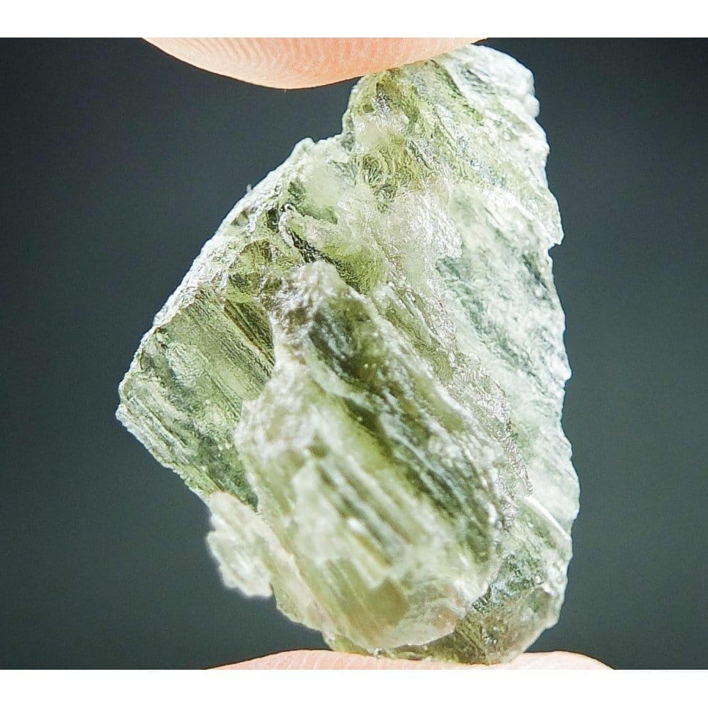 Moldavite with Natural Hole - Uncommon Shape