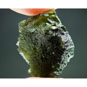Moldavite with Open Bubbles and 2 kinds of Sculpture