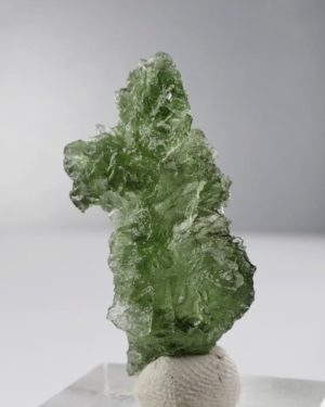 Moldavite Besednice +A Rare Shape with Certificate of Authenticity (3.7gram) 1
