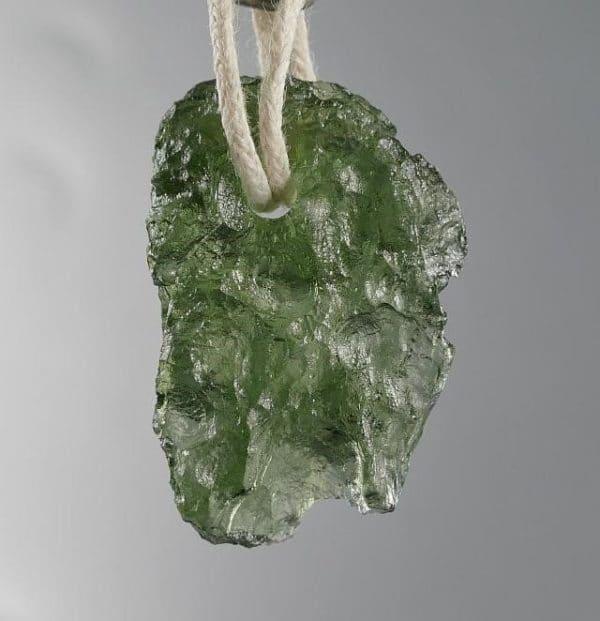 Moldavite Pendant on cord (2.7grams)