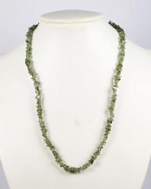 jMoldavite tumbled chip necklace silver 925 (10.2gram)