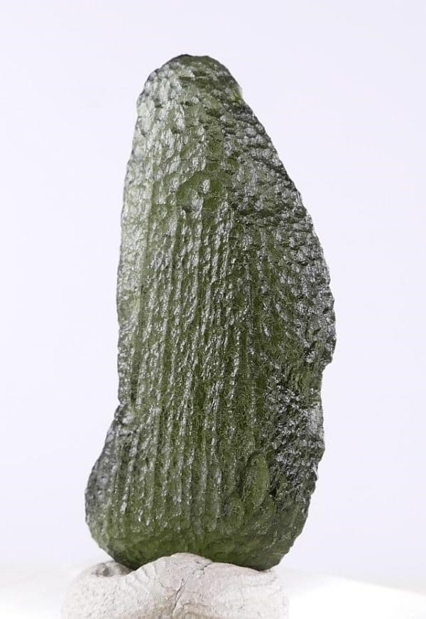 Fine Tear Drop Moldavite Jewelry Shape Specimen (3.4grams)