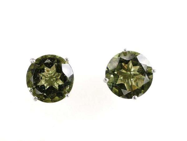 Shiny Round Rare Faceted Moldavite (1.3grams) 1