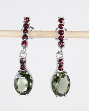 Authentic Rare Moldavite Earrings With Certificate Of Authenticity (3.1grams) 1
