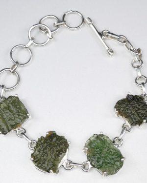 Rare and Unique Made Raw Moldavite Bracelet (15.8grams) 1