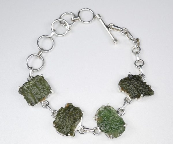 Rare and Unique Made Raw Moldavite Bracelet (15.8grams) 1