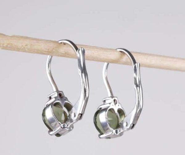 Heart Shape High Quality Grade Faceted Moldavite Earrings (1.6grams) 2