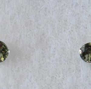 Round Moldavite Earrings (0.30gram) 2