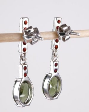 Authentic Rare Moldavite Earrings With Certificate Of Authenticity (3.1grams) 2