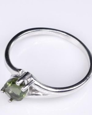 High Quality Faceted Moldavite Ring (1.7grams) Ring Size: 57 (US 8.25) 2