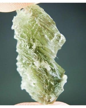 Clear and Olive Green Natural Piece Moldavite (2.15grams)