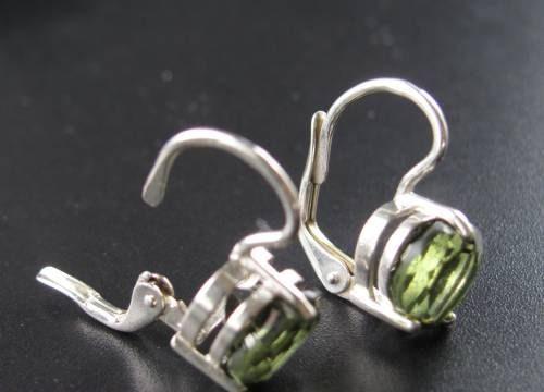 Authentic Heart Shape Faceted Moldavite Earrings (2.1grams) 3