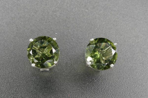 Shiny Round Rare Faceted Moldavite (1.3grams) 3