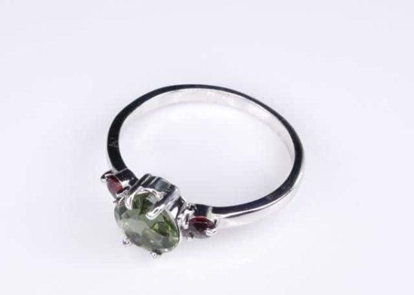 Heart Shape Faceted Moldavite Ring (1.9grams) Ring Size: 58 (8.5 US) 3