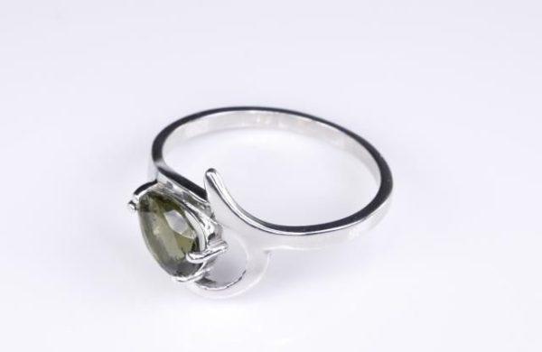 Unique Faceted Moldavite Ring (2.2grams) Ring Size: 55 (7.5 US) 3