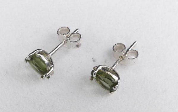 Pear Cut Moldavite Stud Earrings (0.7grams) 3