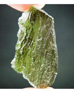 Natural Raw Vibrant Green Moldavite with Certificate of Authenticity (5.98grams)