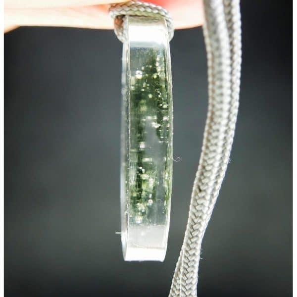 Unique Moldavite Pendant in Resin with Certificate of Authenticity (6.46grams)