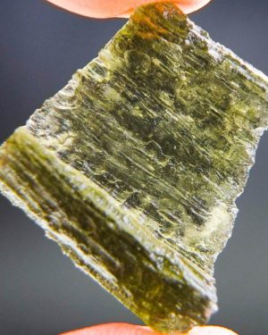 Uncommon Natural Raw Shape Moldavite with Certificate of Authenticity (4.93grams)