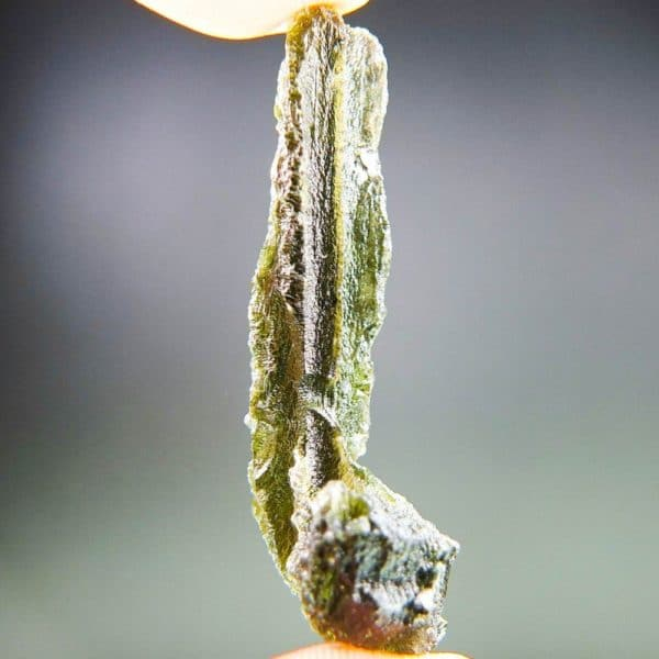 Authentic Long Moldavite with Certificate of Authenticity (6.51grams)