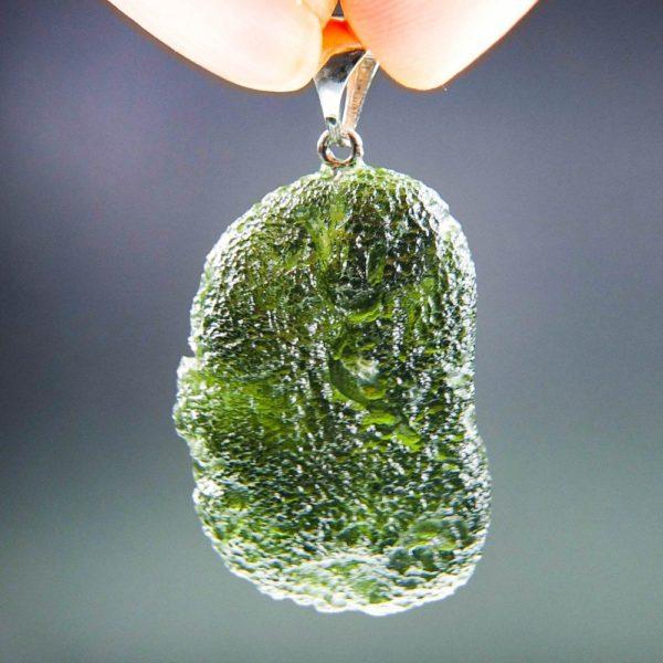 Authentic Boulder shape Moldavite Pendant (10.45grams)