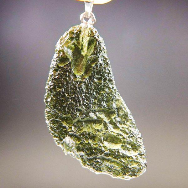 Authentic Glossy Moldavite Pendant (6.78grams)