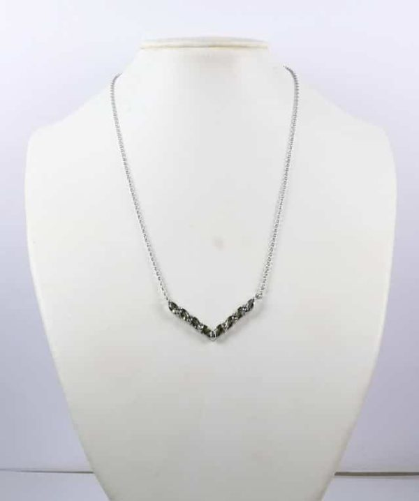 8 Faceted Moldavites Sterling Silver Necklace with Certificate Authenticity (4grams) 4