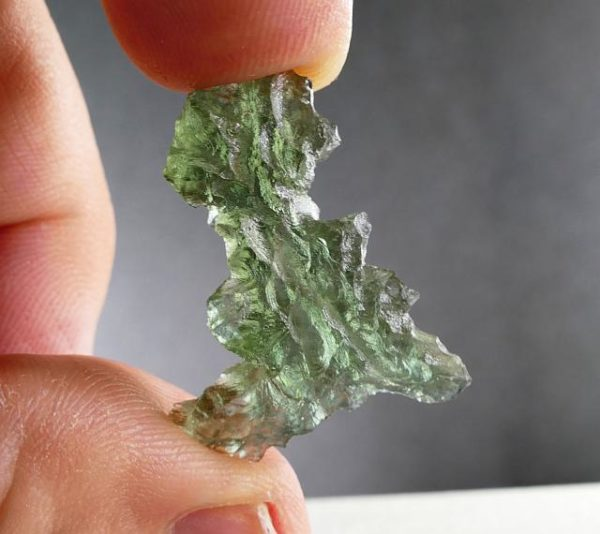 Unique Authentic A+ Moldavite from Besednice with Certificate of Authenticity (2.61grams) 4