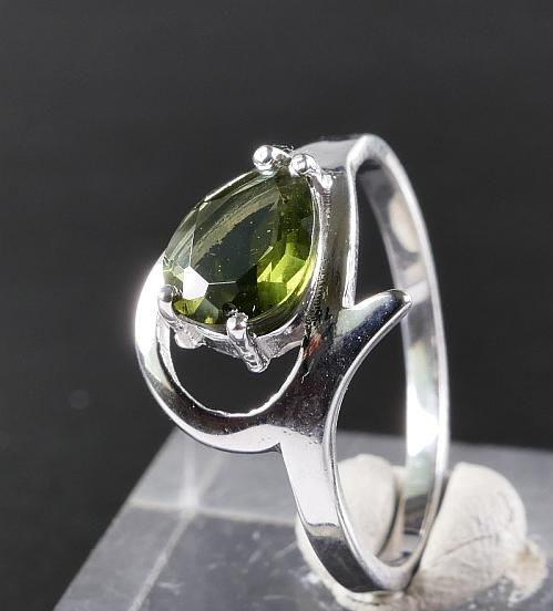 Unique Faceted Moldavite Ring (2.2grams) Ring Size: 55 (7.5 US) 5