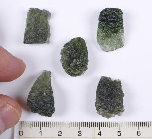 10pcs Authentic High Quality Moldavite Specimens with Authenticity Card (22.2grams)