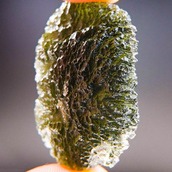 Elipsoid Shape Large Moldavite with Certificate of Authenticity (15.44grams)