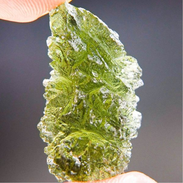 Excellent Natural Shape Authentic Moldavite With Certificate Of Authenticity (5.09grams)5