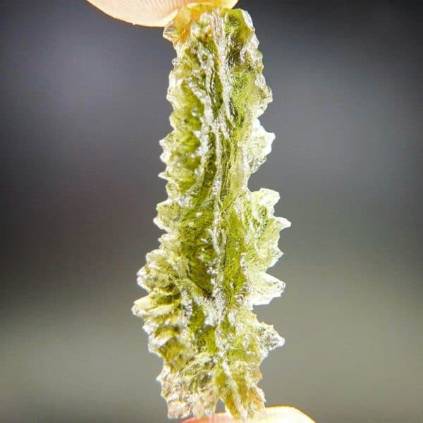 High Grade Quality Excellent in Natural Shape - Moldavite from Basednice with Certification of Authenticity (4.2grams)