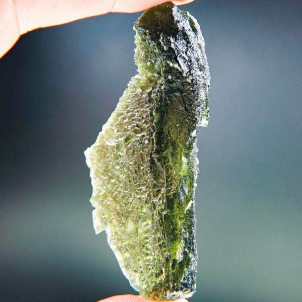 Investment Large Angel Chime Moldavite with Certificate of Authenticity (19.49grams)
