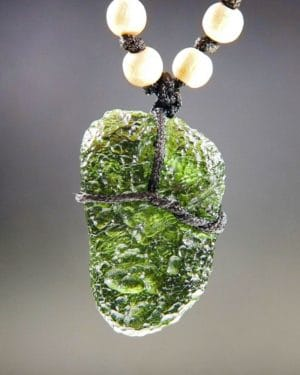 Large Moldavite Necklace with Certification of Authenticity (18.11grams)