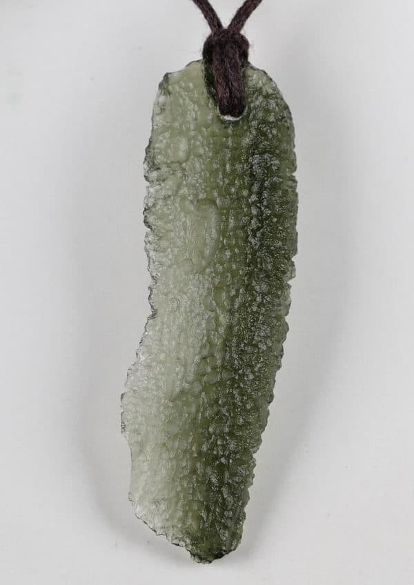 Long Natural Raw Moldavite Pendant with Certificate of Authenticity (4.2grams)