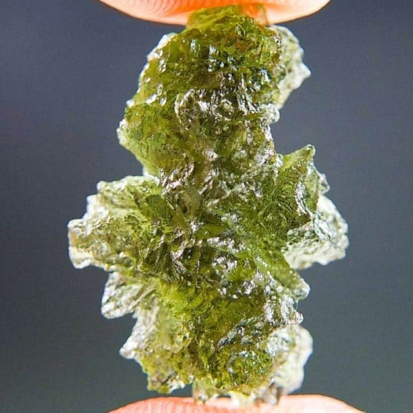 Moldavite In Excellent Fine Shape Basednice With Certificate Of Authenticity (2.53grams)